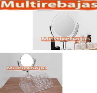 Organizador De Maquillaje Neceser Con Espejo