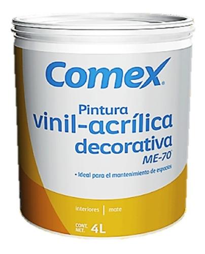 Imagen 1 de 1 de Pintura Vinil - Acrílica Blanca Comex Me70 Interior 4 L