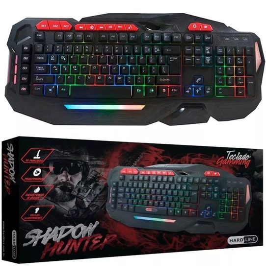 Teclado Gamer Gamming Shadow Hunter C/15 Macros -hardline