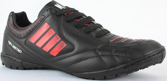Tenis Futbol Rapido Modelo 424 Negro / Rojo
