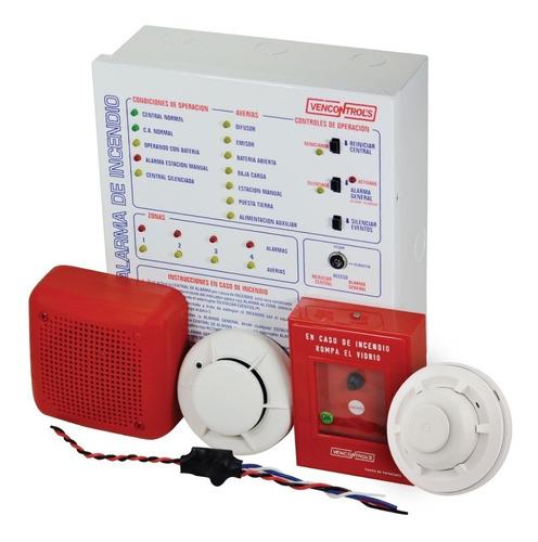 Imagen 1 de 6 de Combo Panel De Alarma Contra Incendio Vencontrols Vc-4xpress