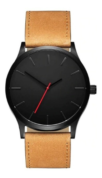 Reloj Hombres Redondo Analogico Formal Pulsera Envio Gratis