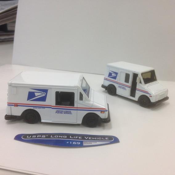 2 Miniaturas Carrinho Correio Delivery Truck Matchbox Jada