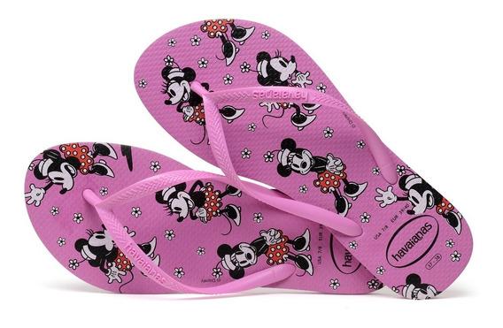 Promo Sandália Havaianas Chinelo Feminino Slim Disney Pink