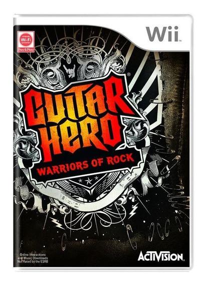 Guitar Hero Warriors Of Rock Wii Mídia Física Pronta Entrega