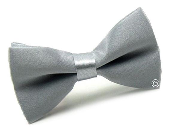 Corbata De Moño Liso Para Niño Grin Accs Color Plateado