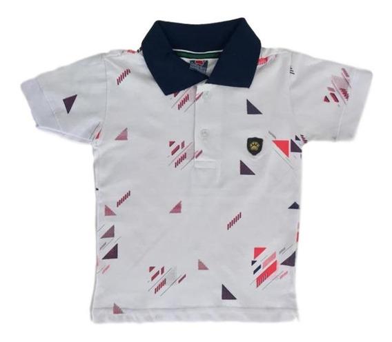 05 Camiseta Camisa Polo Infantil Menino Roupas Atacado Top