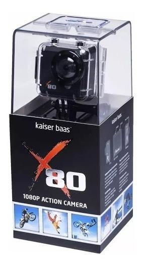 Câmera E Filmadora De Ação Kaiser Baas X80 5mp!