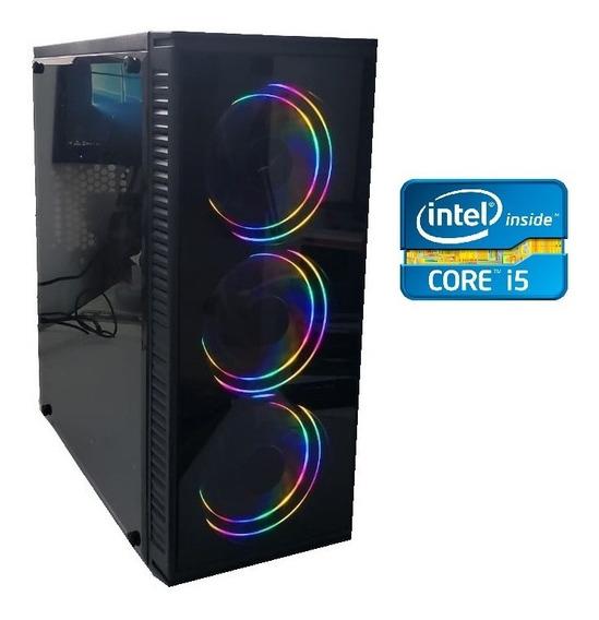 Pc Cpu Gamer Core I5 3470 3.6gh 8gb Ssd 240gb 3 Cooler Led