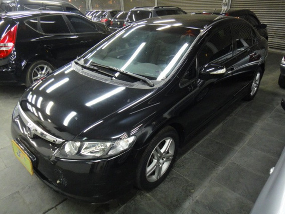 Honda Civic 1.8 Exs Gas Aut. 4p Completo 2007 Preto