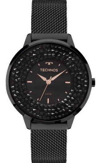 Relógio Feminino Technos Elegance Crystal Preto