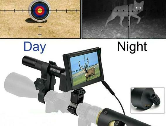 Kit Visao Noturna Caça Riflescope Dia E Noite 250m + Bateria