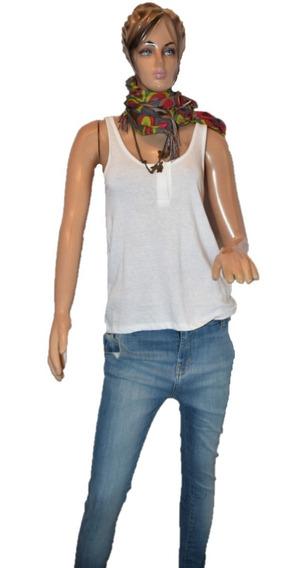 Maria Cher Musculosa Barefoot Color Blanca Promo