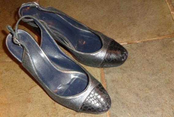 Sapato Tipo Scarpan Azul Marca Mixed - No. 36 -couro