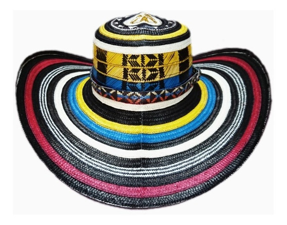 Sombrero Vueltiao Colombia + Correa Tejida