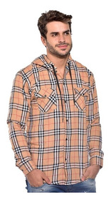 Camisa Xadrez Masculina Capuz Adulto Flanelada Ref-cap-a
