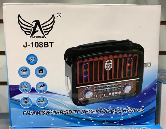 Caixa Som Bluetooth Radio Am Fm Usb Pen Drive Cartão Sd Led