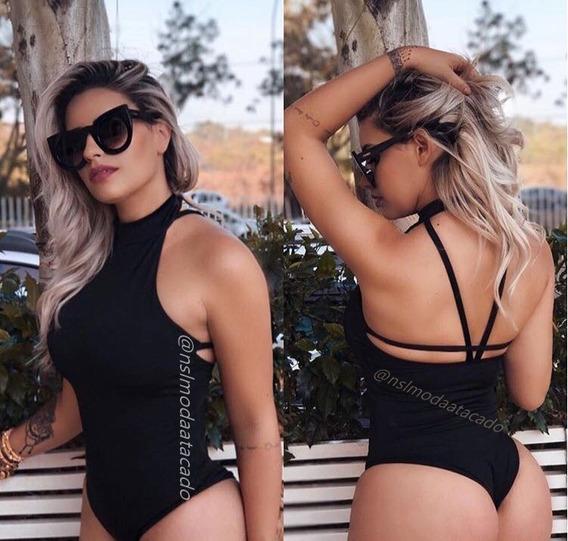 Body Feminino Frente Única Costa Nua Festa Balada Tam Único