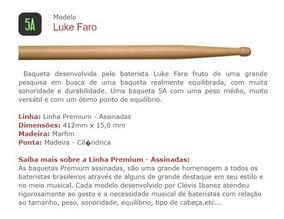 Baqueta C. Ibanez Linha Premium Assinadas 5a 5b