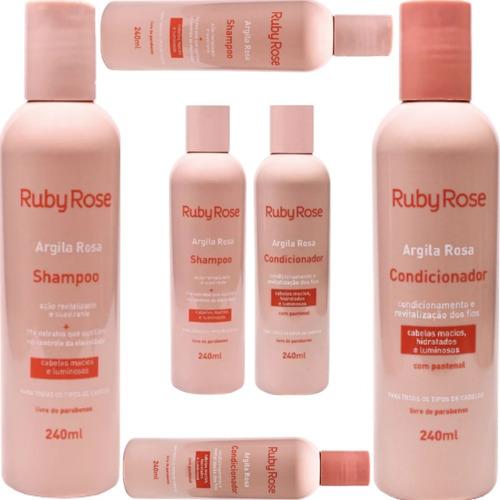 Imagem 1 de 6 de Kit Shampoo + Condicionador Argila Rosa Ruby Rose