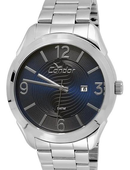 Relógio Condor Masculino Prata Casual Co2115wi/3a C/ Nf