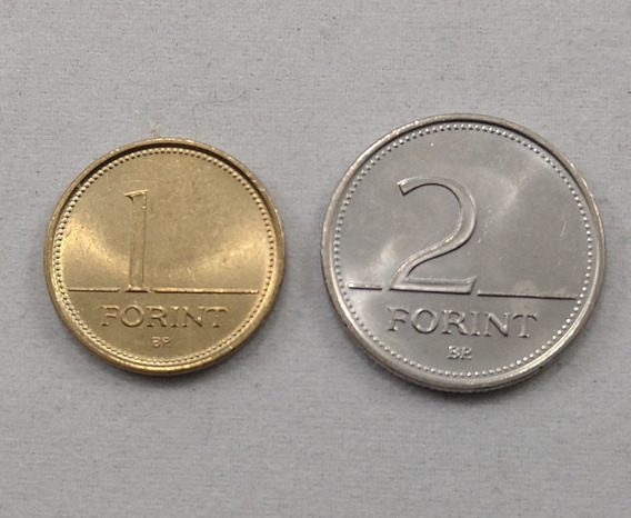 Monedas Hungria 1 Y 2 Forint 1996