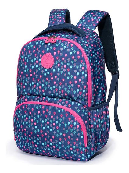 Mochila Spector Balão 19,5l Feminina - Azul E Rosa