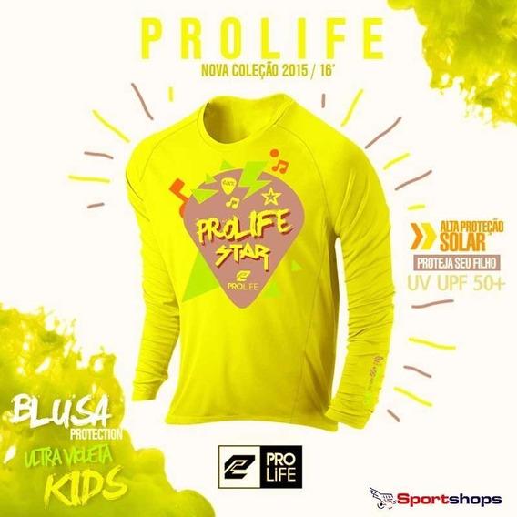 Camiseta De Alta Proteção Infantil Prolife Amarela - 2 Anos