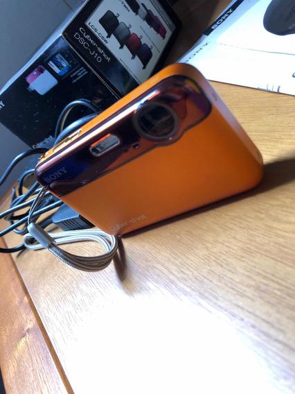 Câmera Digital Sony Dsc-j10 Laranja Semi-nova