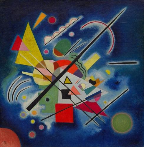 Poster Foto Hd W. Kandinsky 50x50cm Obra Pintura Azul