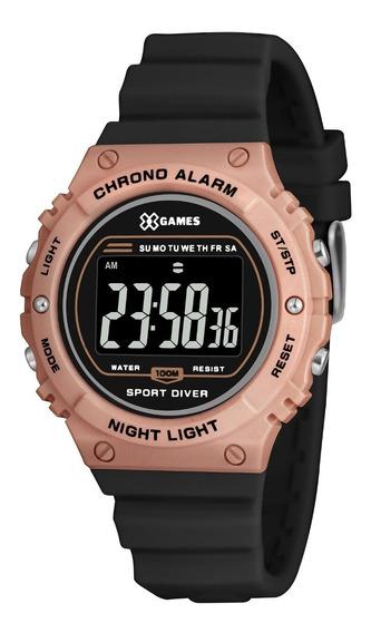 Relógio X-games Feminino Digital Xfppd058 Rose Preto