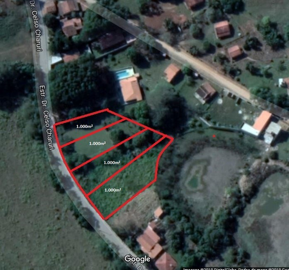 Terreno 1.000m² - Asfalto Na Porta - 850m Do Clube De Campo