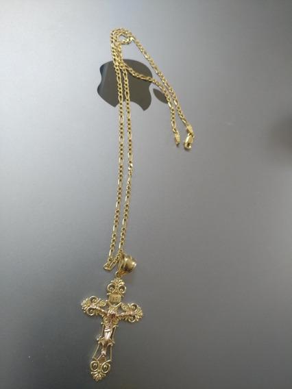 Cadena Oro Puro 14k + Cruz 40cm 11g Goldmex Centenario
