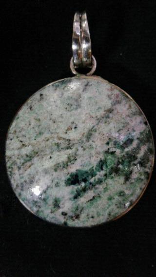 Dije De Onix Verde Fascetado Diámetro 3 Cm