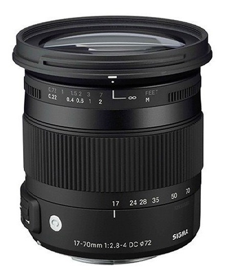 Lente Sigma 17-70mm F/2.8-4 Dc Macro Hsm Canon 12x S/juros