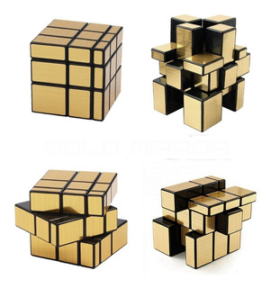 Juego De Ingenio - Cubo Magico Gold Mirror