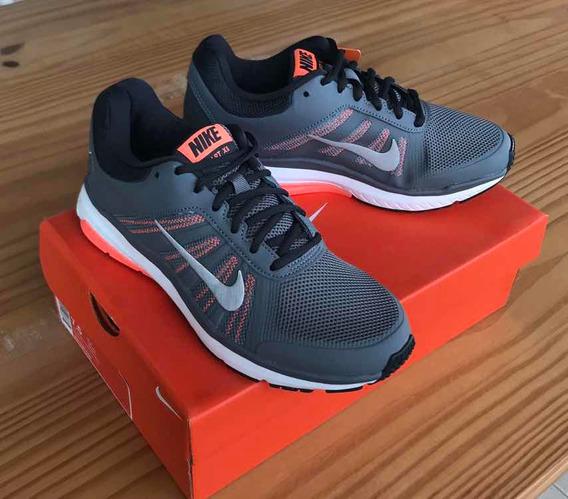 Tênis Nike Dart 12 Msl Cinza, Branco E Laranja. Tamanho: 35