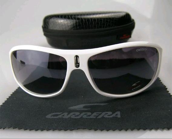 Óculos De Sol Carrera Unissex Branco , Italiano + Estojo