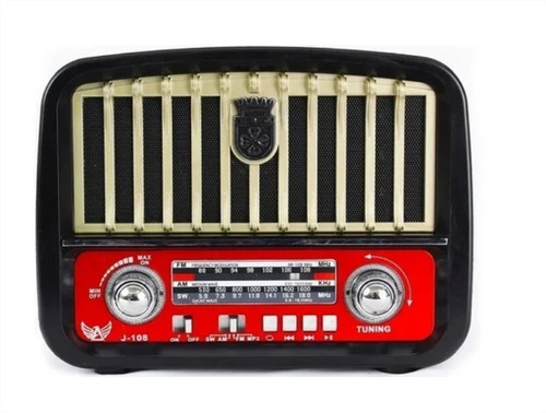Imagem 1 de 7 de Caixa De Som Retrô Usb/bluetooth /radio Fm Altomex J108t