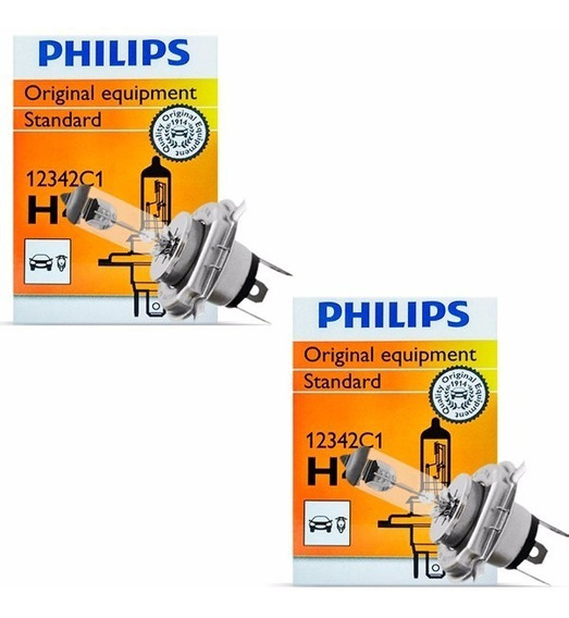 Par Lâmpada H4 12v 55w Original Philips Palio Siena Uno
