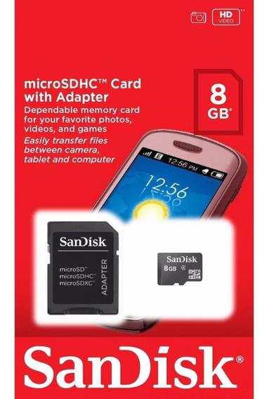 Cartão Micro Sd Com Adapt De 8gb - Sandisk