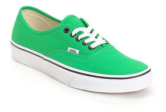Zapatos Vans Color Verdes Originales Unisex Talla 9 Y 10.5