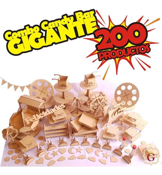 Combo Candy Bar Fibro Fácil Candy Bar Completo 200 Productos