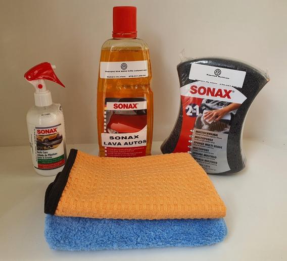 Kit Sonax Lavado Autos Ext/inter Shampoo + Esponja + Otros