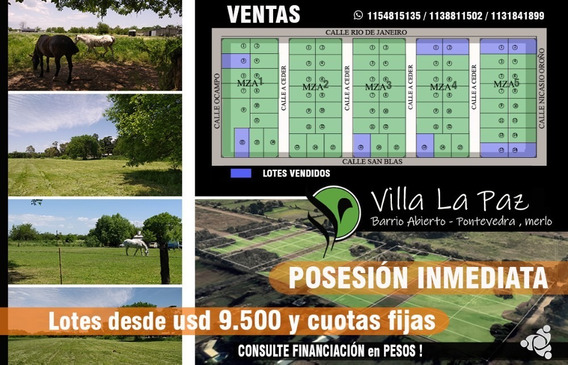 Terreno En Pontevedra, Merlo, Prov. De Bs.as. (800m2)