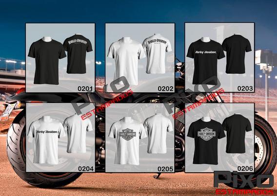 Remeras Estampadas Harley Davidson + Calco De Regalo