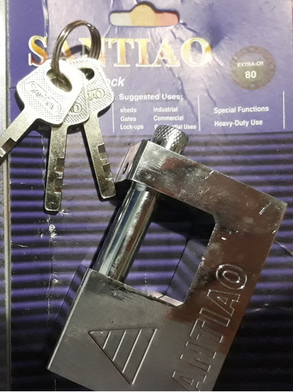 Kit 2 Cadeados Titanium Invioláveis Importados 80mm