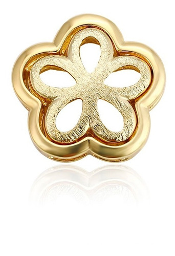 Imagen 1 de 7 de Fino Collar Dije Flor Oro 14k Laminado Dama Estuche Regalo