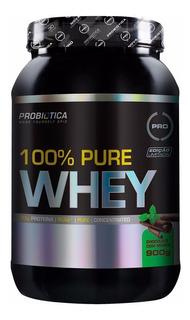 100% Pure Whey Protein 900g Chocolate Com Menta Probiotica