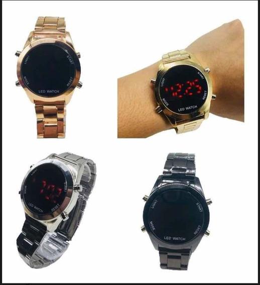 Relógio Feminino Aço + Pulseira Brinde! Promoção